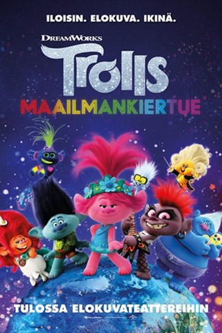 Trolls: Maailmankiertue -elokuvan juliste.
