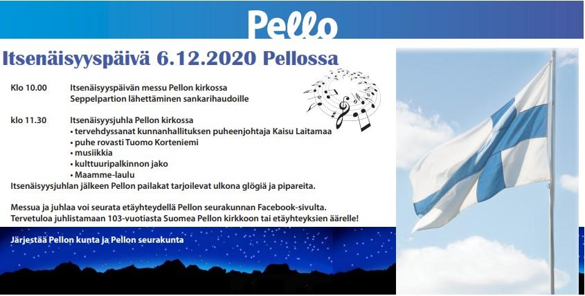 Ilmoitus itsenäisyyspäivästä Meän Tornionlaakso -lehdessä