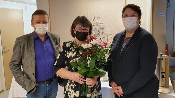 Eero Ylitalo, Anne-Marja Sitomaniemi ja Johanna Korteniemi